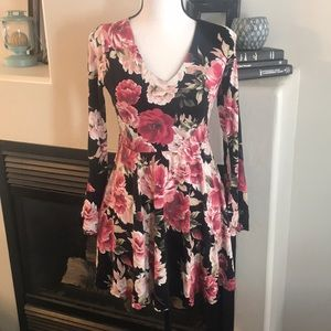 Honey & Rosie Small Floral Print Dress w/ Belt